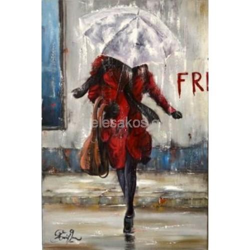 Πίνακας Ζωγραφικής-Βροχερά