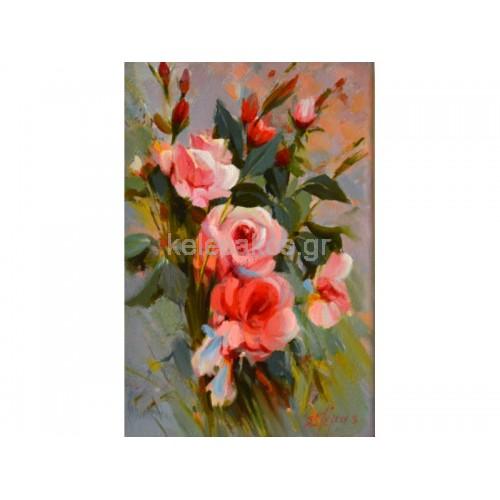 Πίνακας Ζωγραφικής-Ανθοσυνθέσεις λουλούδια