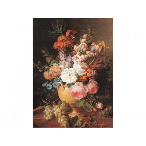Ελαιοτυπία-Λουλούδια